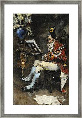 The Musician Framed Print by Giovanni Boldini