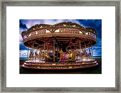 The Mystical Dragon Chariot Framed Print by Chris Lord