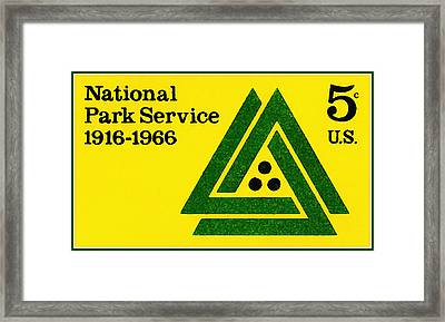 The National Park Service Stamp Framed Print by Lanjee Chee