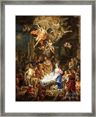 The Nativity Framed Print by Franz Christopher Janneck