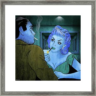 The Negotiation Was Tense Framed Print by Little Bunny Sunshine