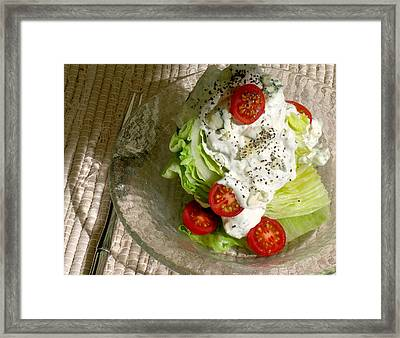 The New Classic Iceberg Wedge Salad With Chunky Blue Cheese/dill Dressing Framed Print by James Temple