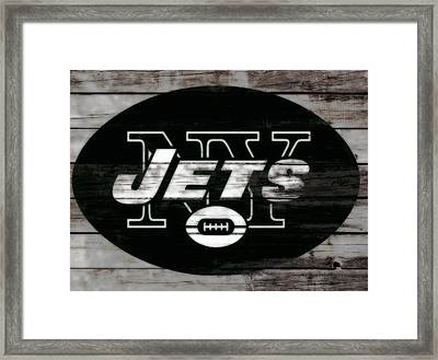 The New York Jets 3c Framed Print by Brian Reaves