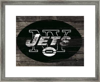 The New York Jets 3h Framed Print by Brian Reaves