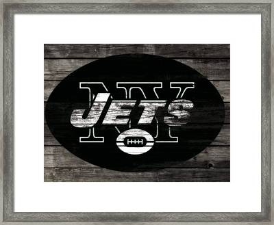 The New York Jets 3i Framed Print by Brian Reaves