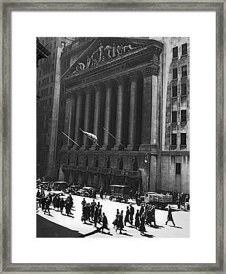The New York Stock Exchange Framed Print by Underwood Archives