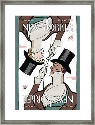 The New Yorker Cover - February 11th, 2008 Framed Print by Conde Nast