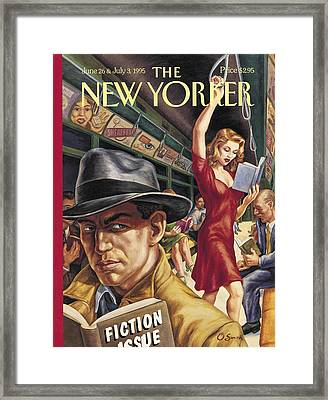 The New Yorker Cover - June 26th, 1995 Framed Print by Conde Nast