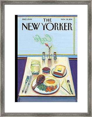 The New Yorker Cover - November 21st, 2011 Framed Print by Conde Nast