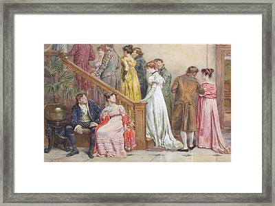 The Next Dance Framed Print by George Goodwin