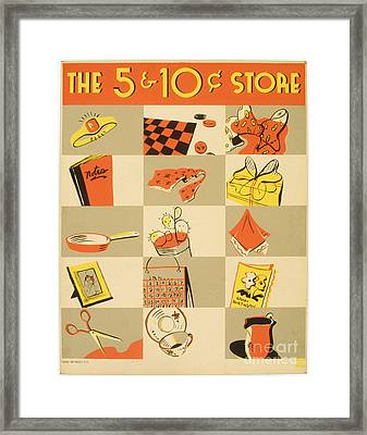 The Nickel And Dime Store Framed Print by Celestial Images