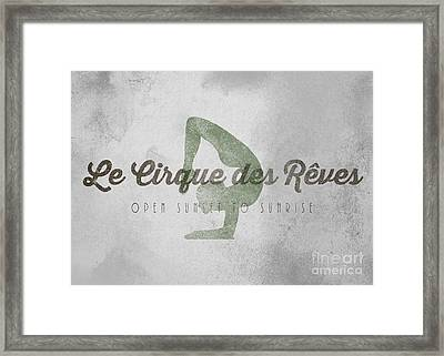 The Night Circus Le Cirque Des Reves Framed Print by Edward Fielding