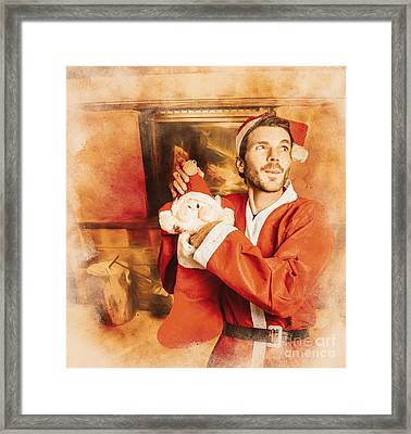 The Night Of Christmas Eve Framed Print by Jorgo Photography - Wall Art Gallery