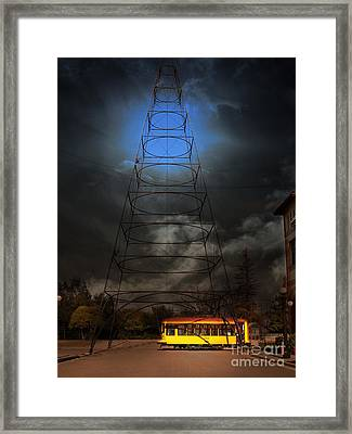 The Night The Old San Jose Railroads Cablecar Trolley 143 Reappeared . 7d12959 Framed Print by Wingsdomain Art and Photography