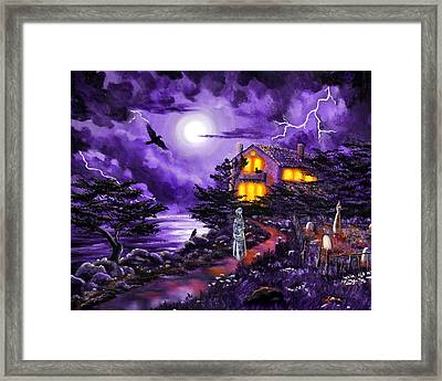The Night's Plutonian Shore Framed Print by Laura Iverson