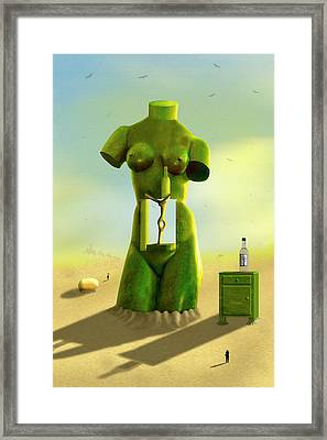 The Nightstand 2 Framed Print by Mike McGlothlen