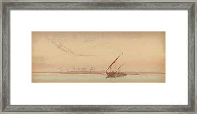 The Nile At Philae Framed Print by Augustus Osborne