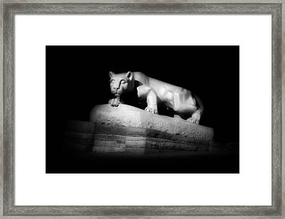 The Nittany Lion Of P S U Framed Print by Pixabay