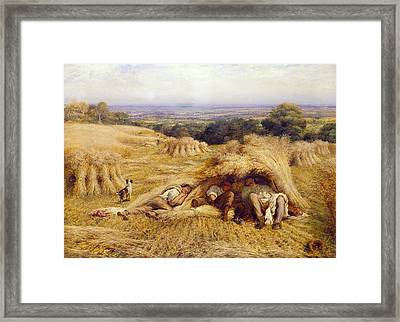 The Noonday Rest Framed Print by John Linnell
