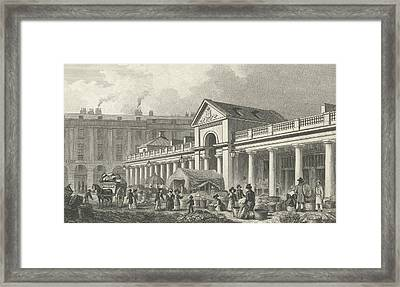 The North West Facade Of The New Covent Garden Market Framed Print by Thomas Hosmer Shepherd