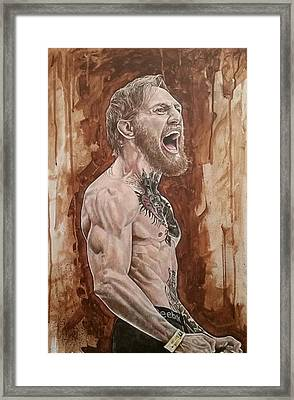 'the Notorious' Conor Mcgregor Framed Print by David Dunne
