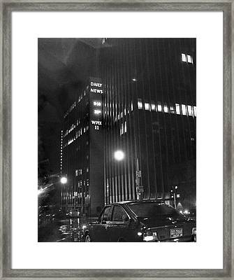 The Ny Daily News Building Framed Print by Underwood Archives