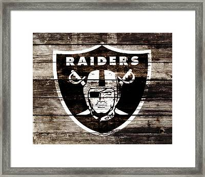 The Oakland Raiders 3c Framed Print by Brian Reaves