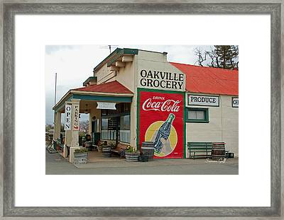 The Oakville Grocery Framed Print by Suzanne Gaff