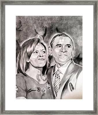The Obamas Framed Print by Nina Carpenter