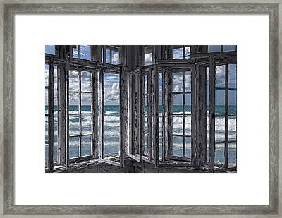 The Ocean Is Coming To Take It Away . . . Haha Framed Print by Joachim G Pinkawa