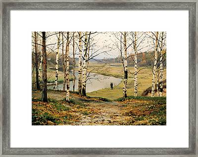 The October Framed Print by Mountain Dreams