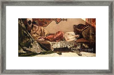 The Odalisque Framed Print by Jean Joseph Benjamin Constant