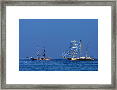 The Old And The New-st Lucia Framed Print by Chester Williams