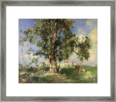 The Old Ash Tree Framed Print by Edward Arthur Walton