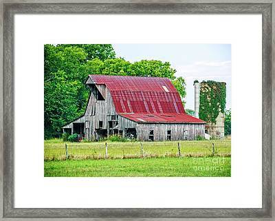 The Old Barn Framed Print by Charles Dobbs