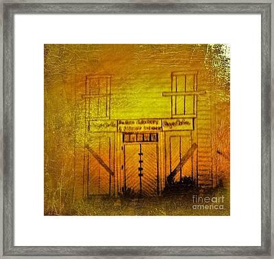 The Old Burem Store  Framed Print by Debra Lynch