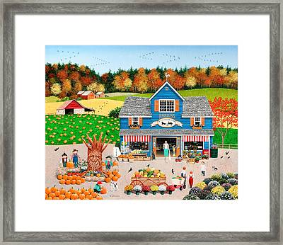 The Old Country Store Framed Print by Wilfrido Limvalencia