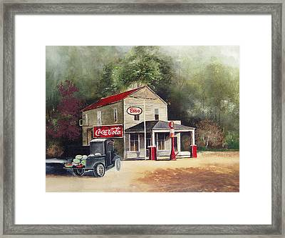 The Old Esso Station Framed Print by Charles Roy Smith