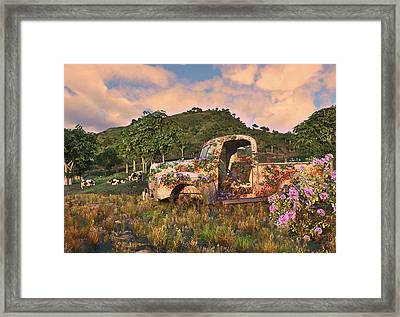 The Old Farm Truck Framed Print by Mary Almond