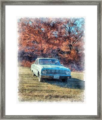The Old Ford On The Side Of The Road Framed Print by Edward Fielding