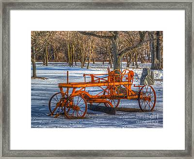 The Old Grader Framed Print by Robert Pearson