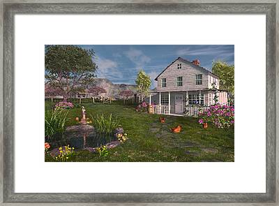The Old Home Place Framed Print by Mary Almond