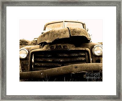 The Old Jalopy . 7d8396 Framed Print by Wingsdomain Art and Photography