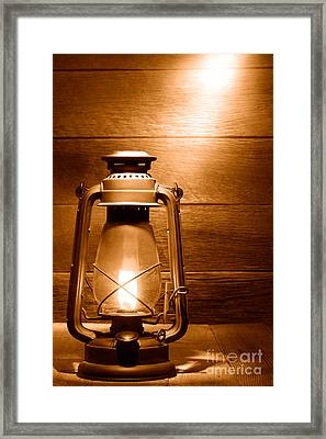 The Old Lamp - Sepia Framed Print by Olivier Le Queinec