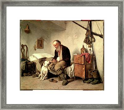 The Old Man And His Best Friend Framed Print by Georges
