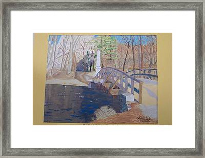 The Old North Bridge In Concord Ma Framed Print by William Demboski