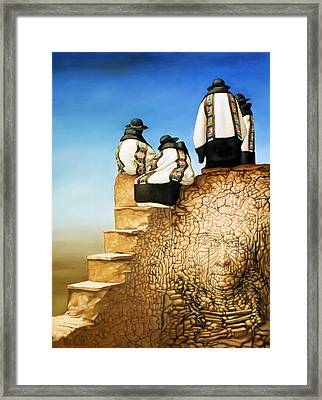 The Old Ones Framed Print by Jane Whiting Chrzanoska