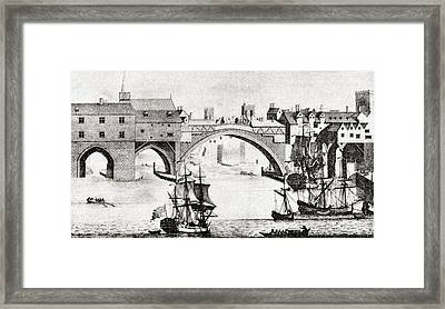 The Old Ouse Bridge, River Ouse, York Framed Print by Vintage Design Pics