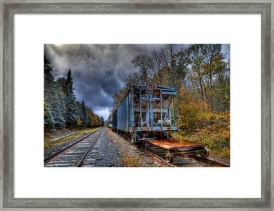The Old Railroad Cars In Thendara Framed Print by David Patterson