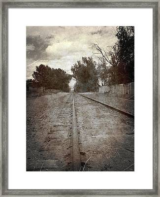 The Old Railroad Tracks Framed Print by Glenn McCarthy Art and Photography